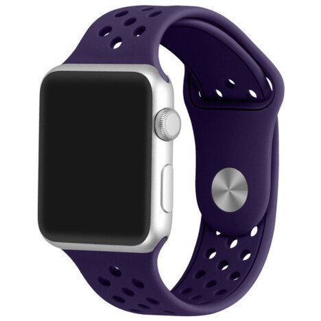 Curea iUni compatibila cu Apple Watch 1/2/3/4/5/6, 40mm, Silicon Sport, Purple